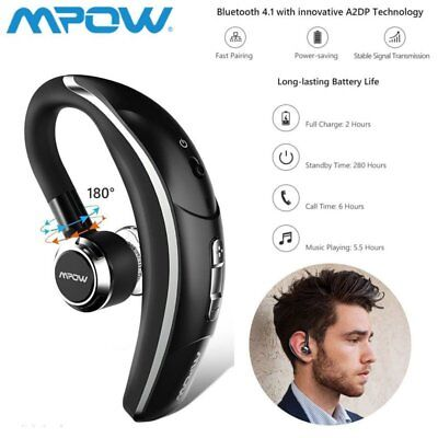 MPOW Wireless Bluetooth In-Ear Kopfhörer Ohrhörer Stereo Earphone für iPhone Wireless Bluetooth Stereo Kopfhörer