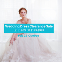 WEDDING DRESS CLEARANCE SALE BRIDAL SHOW! $199-$999 SZ2-28