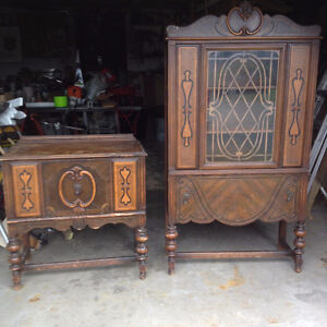 Old China Cabinet and Hutch