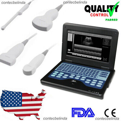 Contec Portable Laptop Machine Digital Ultrasound Scanner Optional Probes Newest