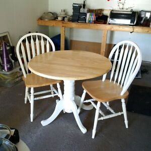 Two chair and table set for sale.