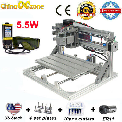 Cnc 3018 3axis Engraving Machine 5.5w Laser For Pcb Wood Carving Milling Router