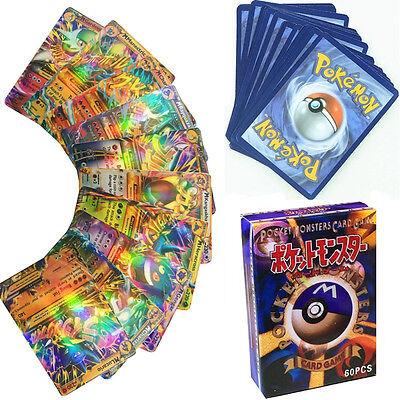 60PCS Pokemon Card Lot Rare 13 MEGA Flash Holo Cards 47 Basic EX Cards