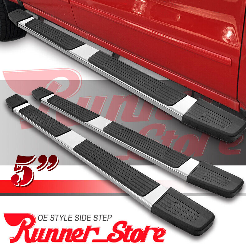 4 OVAL SS CHROME SIDE STEP NERF BAR running board 01-03 F150 CREW//SUPERCREW CAB