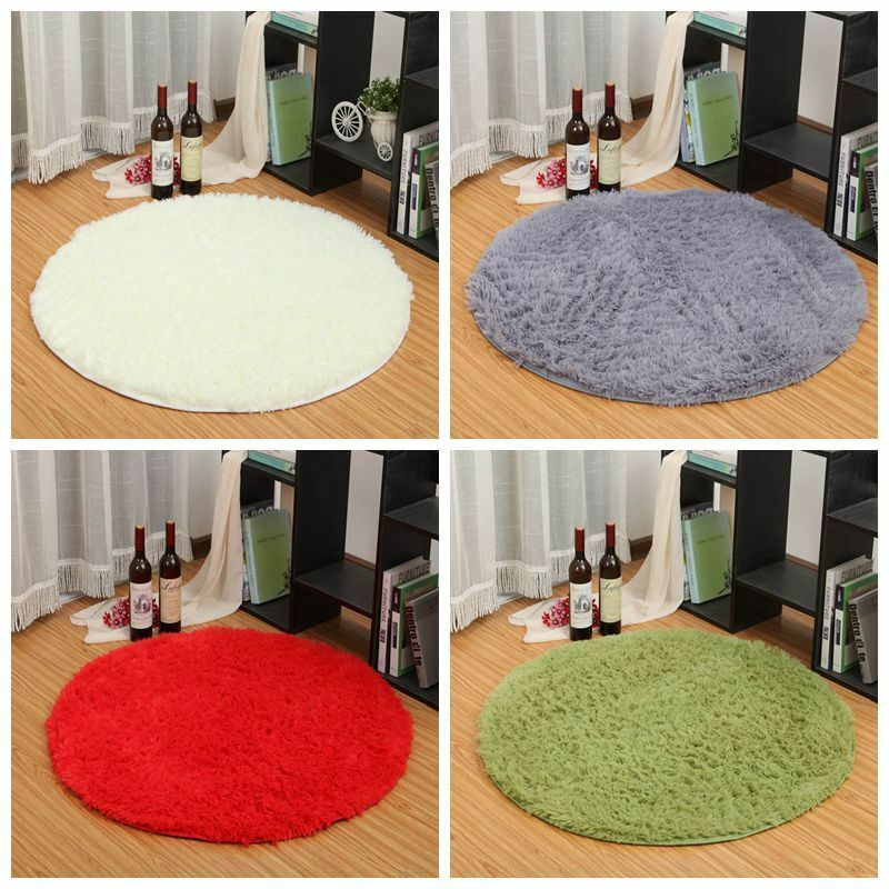 Circle Smooth Living Room Mat Area Rugs Carpet Doormat Floor