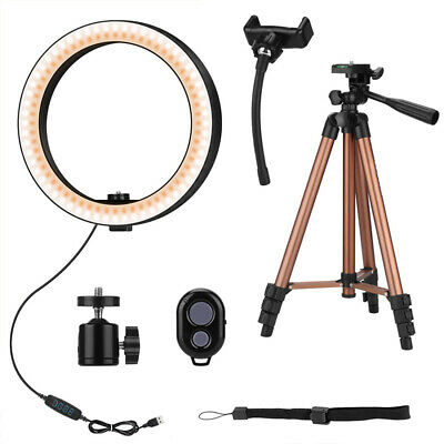1X(10 Inch Selfie Ring Light with 50 Inch Tripod Stand & Pho
