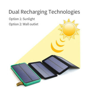 Solar Charger power bank Iphone, Android, Samsung, 10000 mah.