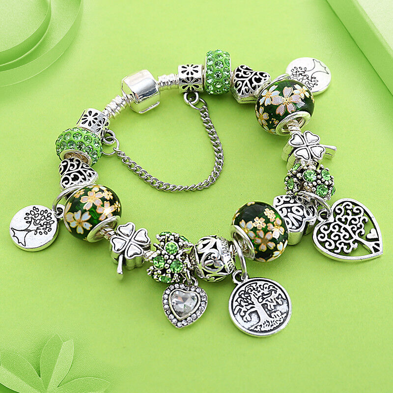 Charm Pandora Bracelet Silver Heart Jewelry Tibetan Silver Elegat Ebay