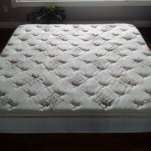 King Size Mattress, Frame and Box Spring