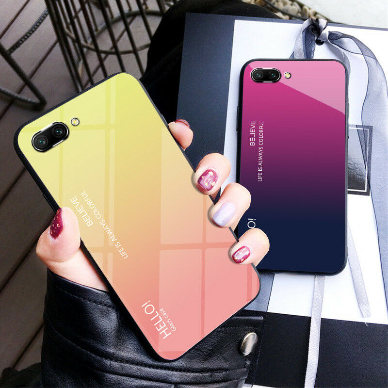 Ultra Thin TPU Bumper Tempered Glass Back Case Cover For
