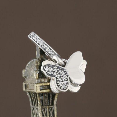 NEW Authentic Pandora Charms bead Fluttering Butterflies Pen
