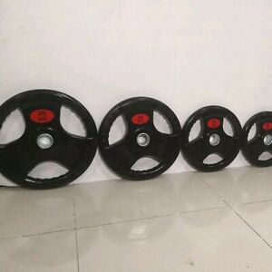 Olympic rubber coated weight plates FREE DELIVERY