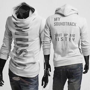 Mens-Letter-Printed-Pullover-Hoodie-Sweater-Slim-Fit-Coat-Jacket-Biker-Blazer