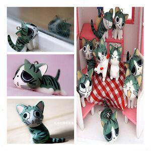 1*Sweet Cat Mobile Phone Strap Charm Cat Key Chain Phone Chain Pendant Hangings
