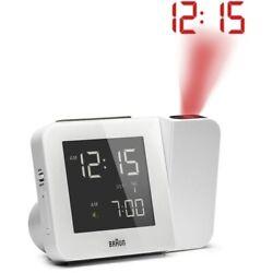 Braun BNC015 Digital Radio Controlled Projection Alarm Clock Black New Open Box