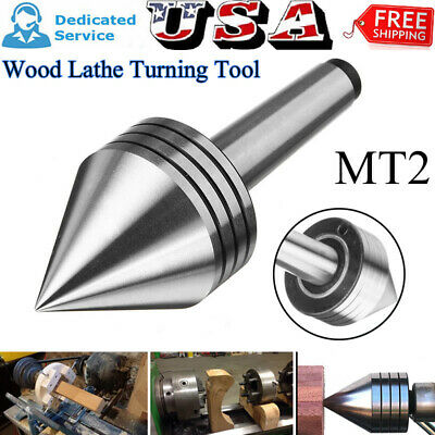 Mt2 Heavy Duty Live Bearing Tailstock Center Fit Metal Wood Lathe Turning Tool