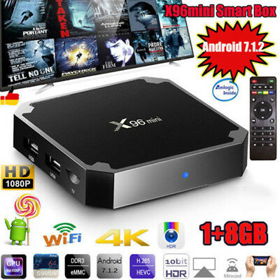 X96mini Smart Android 7.1 TV Box S905W Quad Core H.265 1G 8G WiFi Media Player