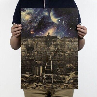 36 51 5Cm Retro Vintage Milky Way Galaxy Matte Brown Paper Poster Home Decor