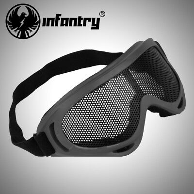 e5831114bad INFANTRY Airsoft Tactical Vented Safety Goggles Glasses Eye Protective Wire  Mesh.  . 13.99. Buy It Now