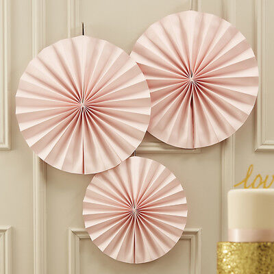 PASTEL PERFECTION - CIRCLE FAN DECORATIONS - PINK