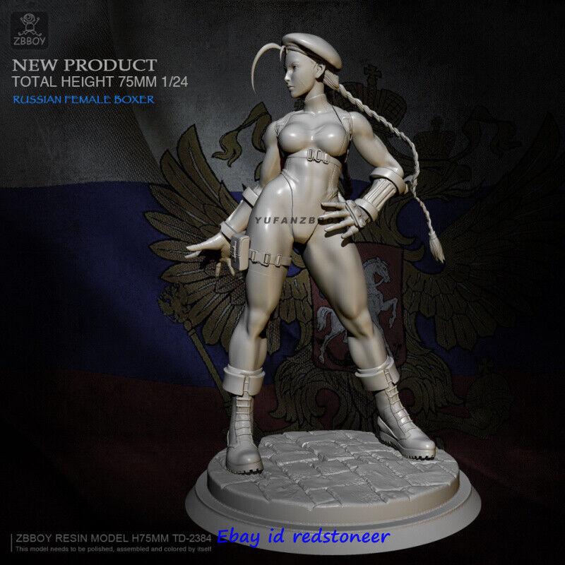 Black Widow Scarlett 1//24 Resin Kits Unpainted Figure Model H75mm Unassembled