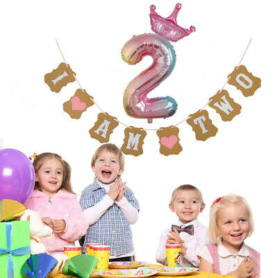 2PCS Color Number Foil Balloons Rainbow Digit Birthday Party Gift Decor](Rainbow Colored Balloons)