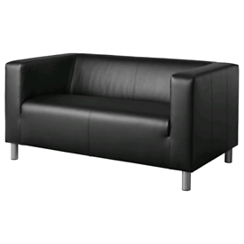 KLIPPAN 2-seat sofa, black, £139.30, Ikea Reading, #bargincorner