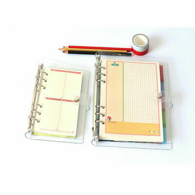 1x A5a6a7 Clear Pvc Cover Loose Leaf Ring Binder File Cover Folder Waterproof