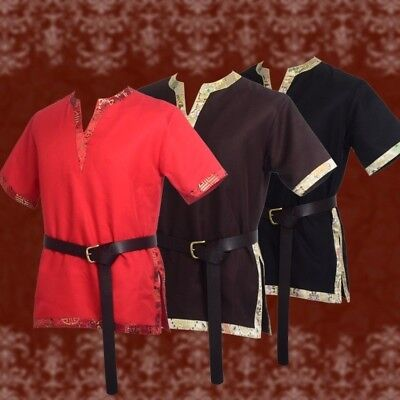 Mittelalterlichen Tunika LARP Tops Männer Aristokrat Chevalier Cosplay Kostüm