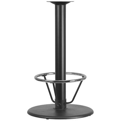 24 Round Restaurant Table Base With 4 Dia. Bar Height Column And Foot Ring