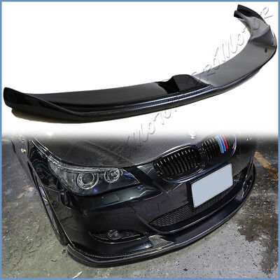 Carbon Fiber HM Type Front Lower Add Lip For BMW 06-10 E60 Sedan M5 Bumper Only for sale  Shipping to Canada
