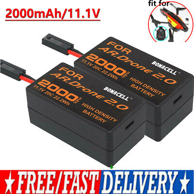 2x2000mAh 11.1V Upgrate Battery for Parrot AR Drone 2.0 Quadcopter High capacity