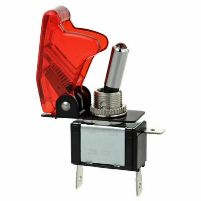 Spst Red Led Light Metal Tip Toggle Switch 12v 20a Onoff Automotivecarboat