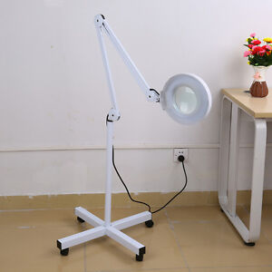 Magnifying lamp stand ebay 5x diopter rolling floor stand magnifier lamp glass magnifying facial adjustable mozeypictures Choice Image