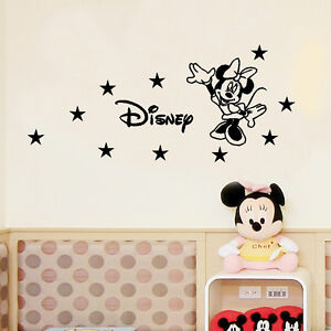 custom name minie mouse vinyl kids room wall stickers decor decal