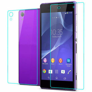 Front + Back Tempered Glass Screen Protector For Sony Xperia Z2 Regina Regina Area image 2