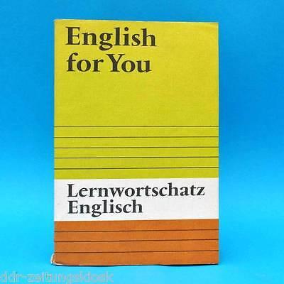 DDR Schulbuch  | English for you | Lernwortschatz Englisch | EA 1985