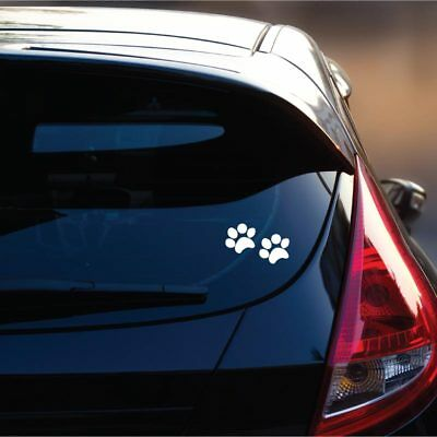 Paw Print Decals (Paw Print Dog Decal - Car Window Vinyl Decal - Animal)