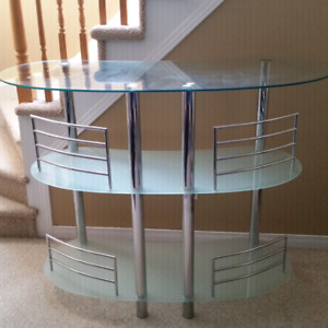 Glass bar for sale $80.