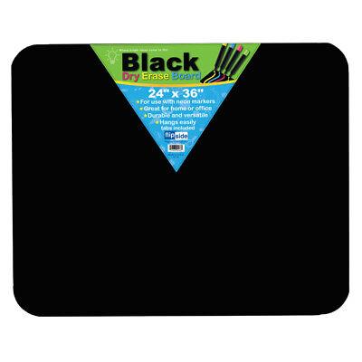 Flipside Black Dry Erase Board 24 X 36