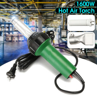 1600w Hot Air Torch Plastic Welding Heat Gun Pistol Pvc Vinyl Welder Tool 1500w