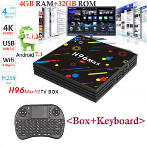 H96 MAX H2 4GB 32GB Smart Android 7.1TV Box RK3328