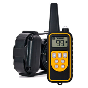 Waterproof and Rechargeable Dog Training Collars 800m Remote