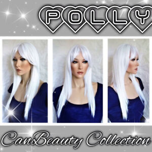 """CanBeauty Collection """"Polly"""" Wig, Dark Brown long wig w/bangs"""