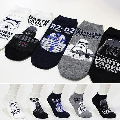 New 5 Pairs Star Wars Darth Vader Character Socks Men