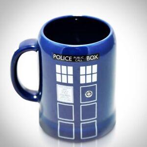 'DOCTOR WHO-TARDIS' BLUE CERAMIC STEIN MUG