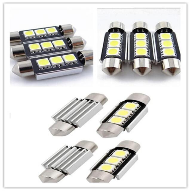 White 36MM 3 LED 5050 SMD Car Reading Interior License Plate Light Lamp BulbWR