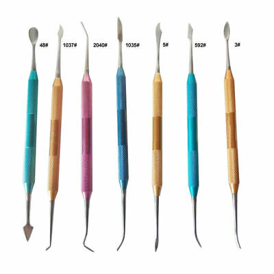 7 Pcsset Dental Lab Stainless Steel Wax Plaster Carving Carver Spatula Pick