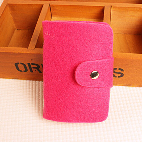 Unisex Bank Credit ID Card Holder Soft Case Bag Felt Wallet Organizer Business