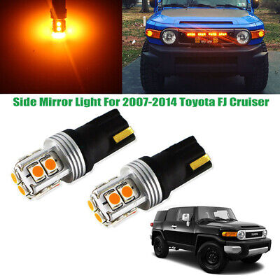- Amber CAN-bus 10-SMD LED Side Mirror Light Bulbs For 2007-2014 Toyota FJ Cruiser